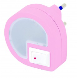 Punto luce rosa 2led interruttore on off