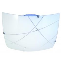 Plafoniera in vetro a led integrati quadrata 30x30cm 14w