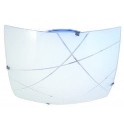 Plafoniera in vetro a led integrati quadrata 40x40cm 24w