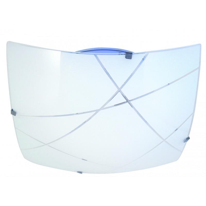 Plafoniera in vetro a led integrati quadrata 40x40cm 24w