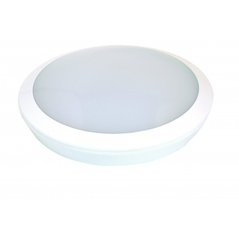 Plafoniera tonda led integrati ip66 grande con kit luce di cortesia