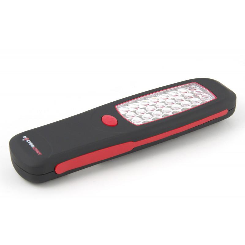 Lampe portable de travail 24 led avec crochet et aimant en display 12 pcs