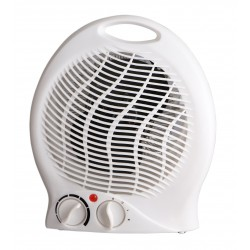 Electrical fan heater 2kw with thermostat white