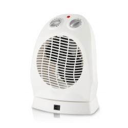 Electrical fan heater 2kw with thermostat and automatic rotation white