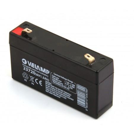 Batteria ricaricabile al piombo 6v 1.3ah attacchi faston 23720 Batterie ricaricabili al piombo 6v Velamp