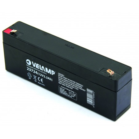 12V 2.2Ah rechargeable lead Acid battery 23724 Velamp 12V Sealed lead acid rechargeable batteries