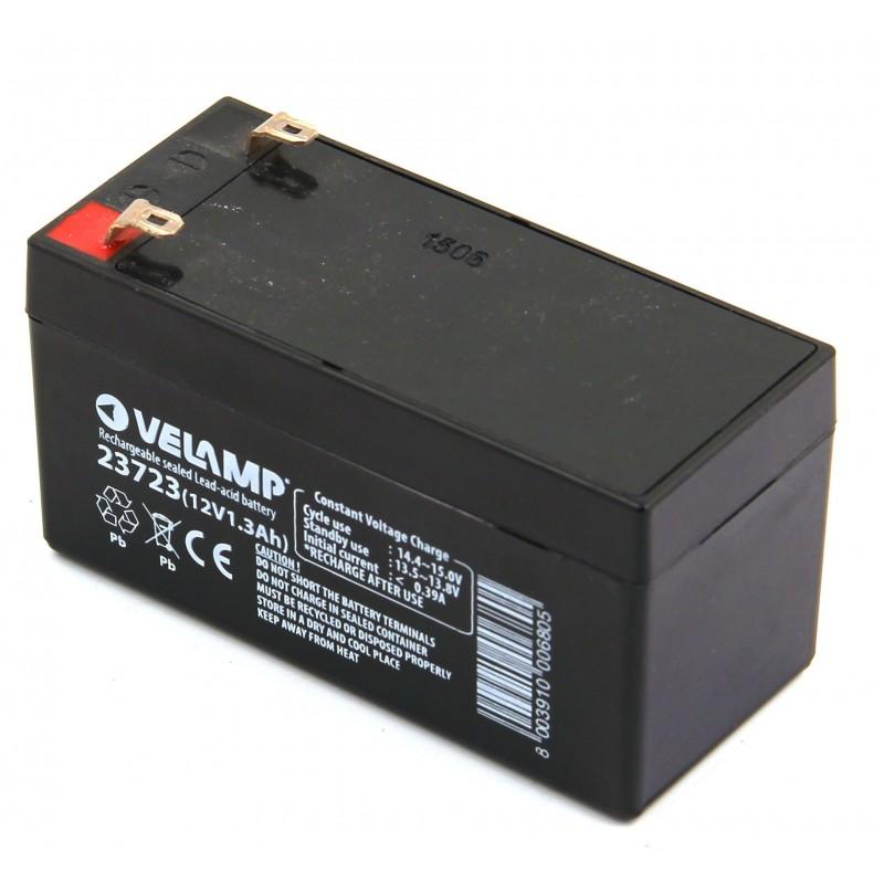 Batterie rechargeable au plomb 12V 1.3 Ah 23723 Batteries rechargeables au plomb 12V Velamp