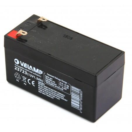 Batería recargable de plomo acido 12V 1.3Ah conector FASTON 23723 Velamp Baterías de plomo-ácido recargables de 12V