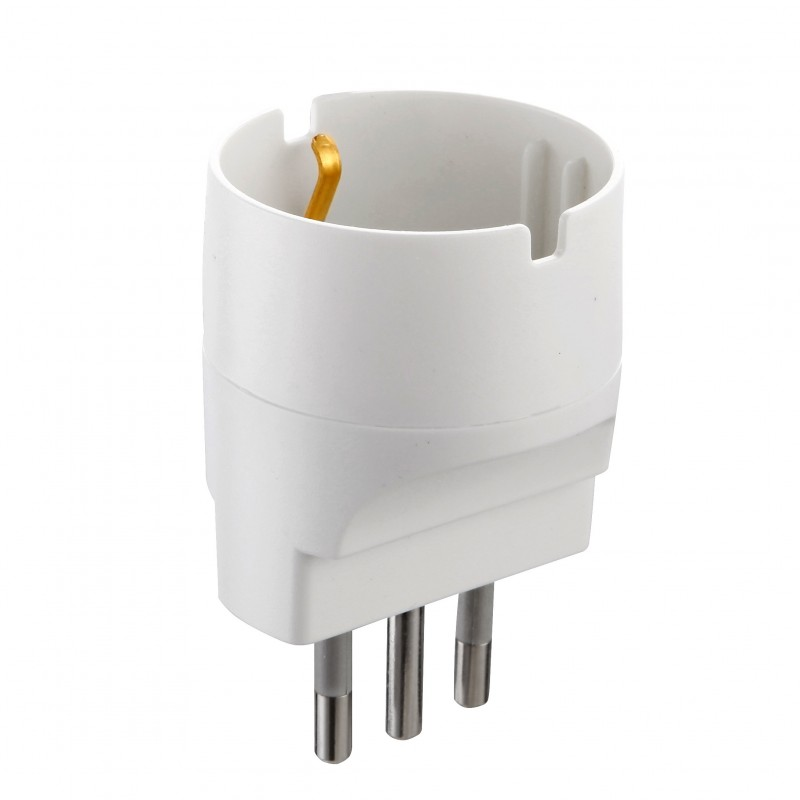 Adapter von Schuko auf Small Plug 10A ADAPT-IT-10S Adapter Italien Velamp