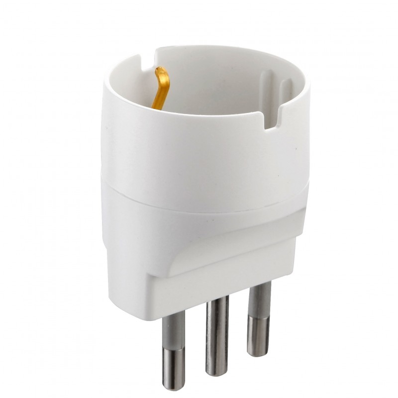 Adaptador italiano: enchufe Schuko a enchufe grande de 16 A ADAPT-IT-16S Velamp Adaptadores Italia