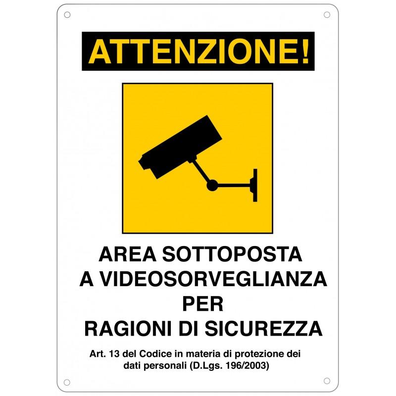 Videoüberwachungsbereich Zeichen in Acryl.  CCTV01 Schnurlose Türklingeln Velamp