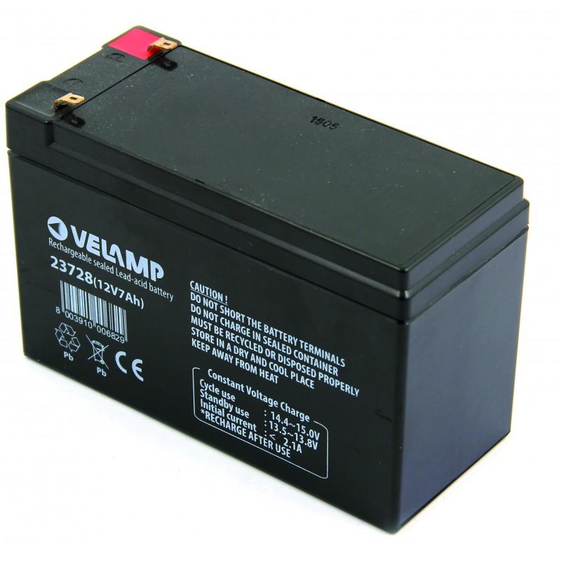 Batterie rechargeable au plomb 12V 7 Ah 23728 Batteries rechargeables au plomb 12V Velamp