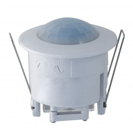 360° flush mounting IR motion detector. White MS007 Velamp Motion and CDS sensors