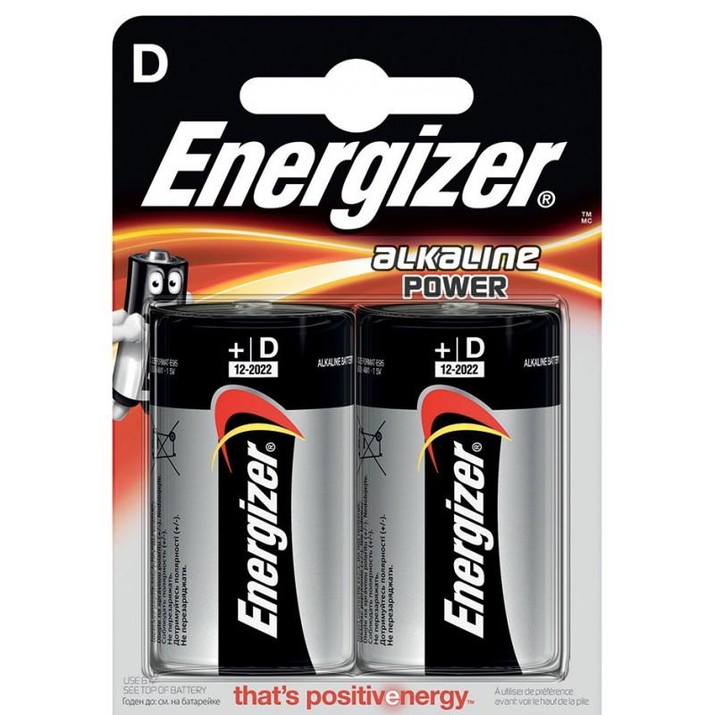 Blister ENERGIZER de 2 piles alcalines POWER LR20 (D) NLR20 Pile Energizer Velamp
