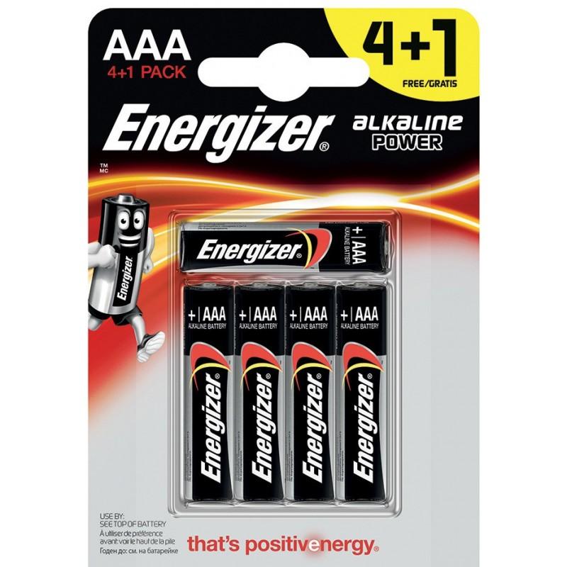 5 pile alcaline power lr03 aaa energizer blister NLR03X5 Pile energizer Velamp