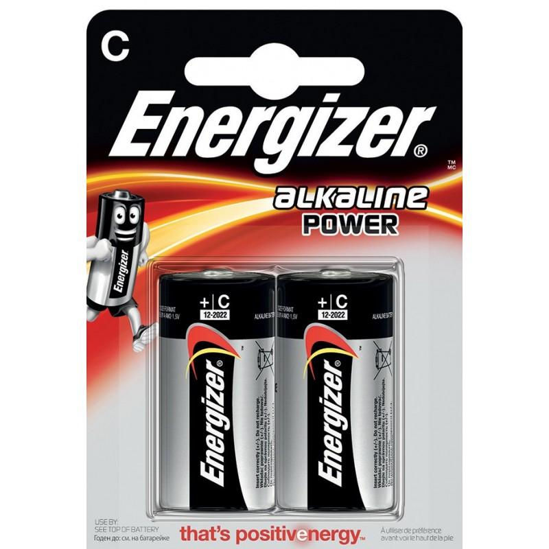 ENERGIZER blister Pack of 2 alkaline batteries POWER LR14 (C) NLR14 Velamp Pile Energizer