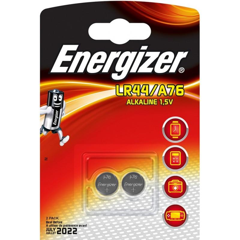 ENERGIZER blister Pack of 2 LR44 alkaline batteries NLR44X2 Velamp Pile Energizer