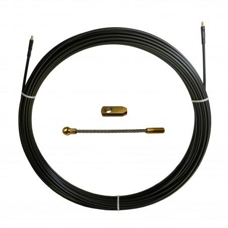 Tire fils nylon-acier noir m 30 ø6mm SAN6-030 Aiguilles tire-fils pour usage industriel Stak