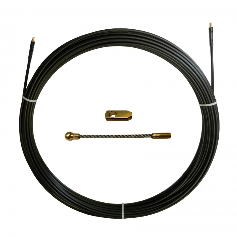 Tire fils nylon-acier noir m 50 ø6mm SAN6-050 Aiguilles tire-fils pour usage industriel Stak