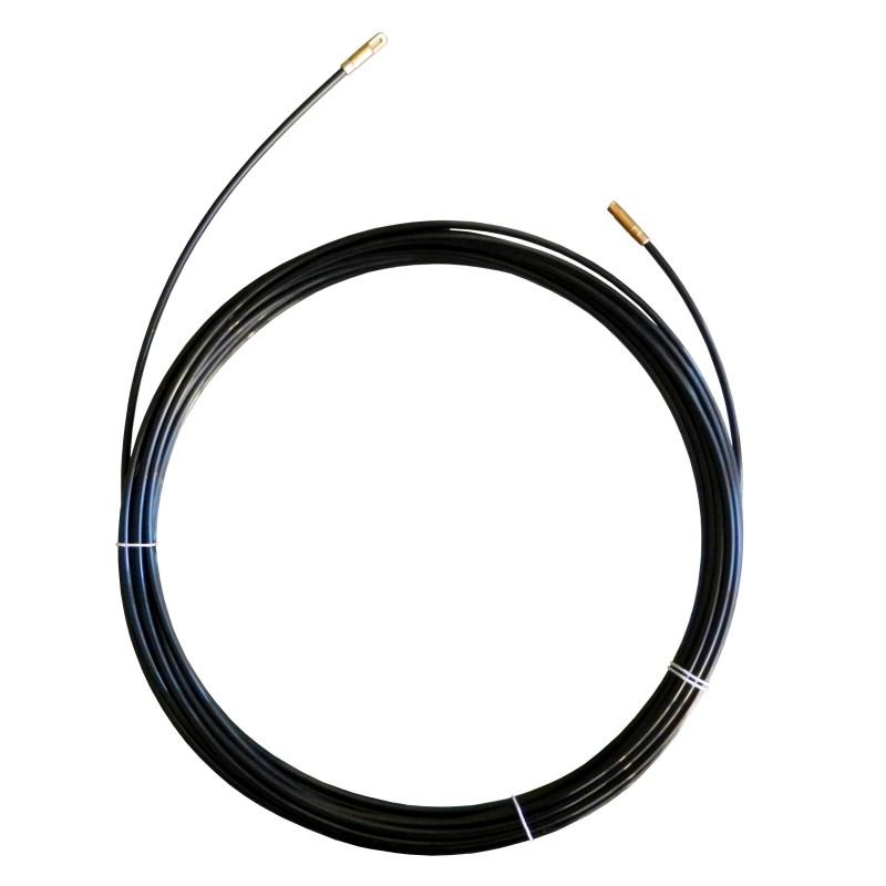 Sonda tiracavi in nylon diametro 3 mm 15 metri con terminali fissi e testa cieca nero SBAN3-015 Sonde uso civile Stak