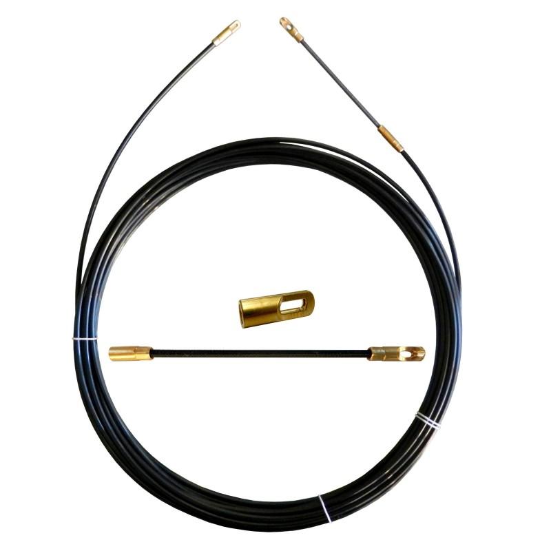 Perlon-Kabelzugsonde, schwarz, Ø 3 mm, 20 m, mit austauschbaren Anschlüssen SPN3-020 Professionelle Sonden für private Anlag...