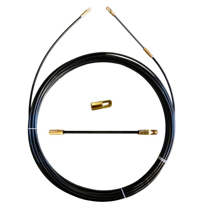 Sonda tiracavi in Perlon, nera, Ø 4 mm, 10 metri, con terminali intercambiabili SPN4-010 Sonde uso civile Stak
