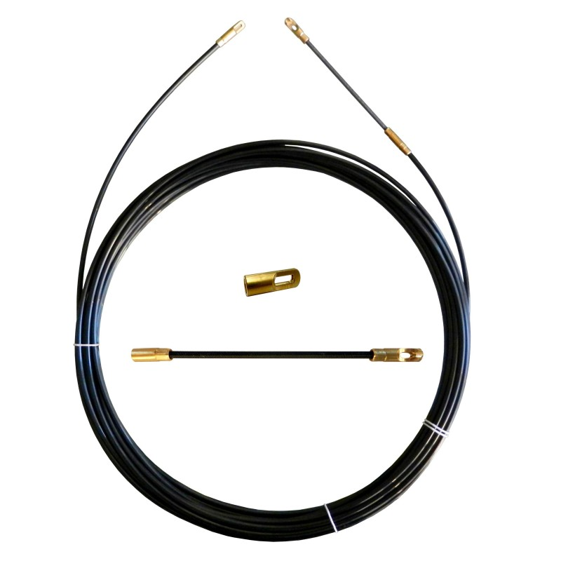 Sonda tiracavi in Perlon, nera, Ø 4 mm, 25 metri, con terminali intercambiabili SPN4-025 Sonde uso civile Stak
