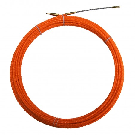 Helical cable pulling probe, orange, Ø 4 mm, 25 meters, with interchangeable terminals STOR4-025 Stak Fishtapes for civil use
