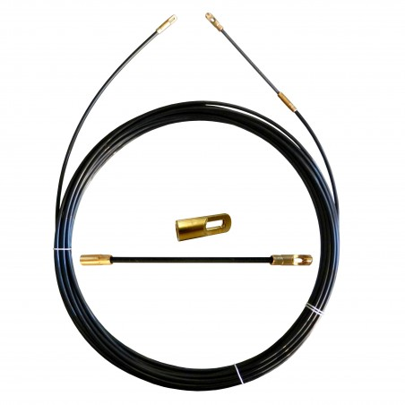 Sonda tiracavi in nylon diametro 3 mm 5 metri con terminali fissi nero SYN3-005 Sonde uso civile Stak