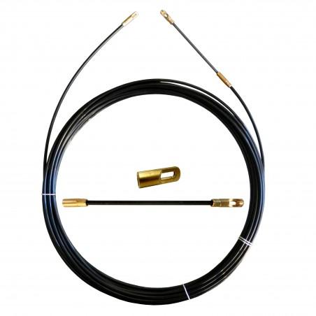 Sonda tiracavi in nylon diametro 3 mm 25 metri con terminali fissi nero SYN3-025 Sonde uso civile Stak