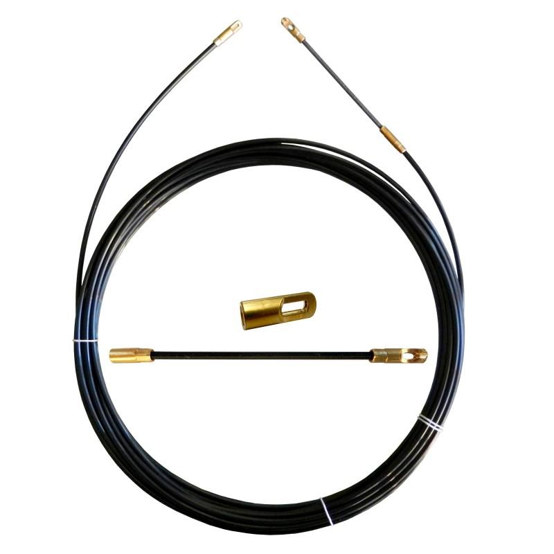 Sonda tiracavi in nylon diametro 3 mm 30 metri con terminali fissi nero SYN3-030 Sonde uso civile Stak