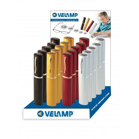 Occhiali da lettura 4 colori e 5 diottrie a scelta. IN283 Lampade con lente Velamp