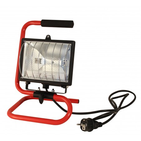 HALO: 400W halogen floodlight. Aluminium bracket and 1,5m cable. IS400 Velamp Worklights on H stands