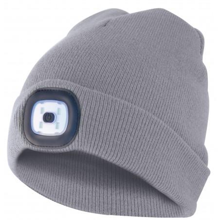 Capellino con luce frontale torcia led ricaricabile grigio chiaro CAP01 Cappellini led Velamp