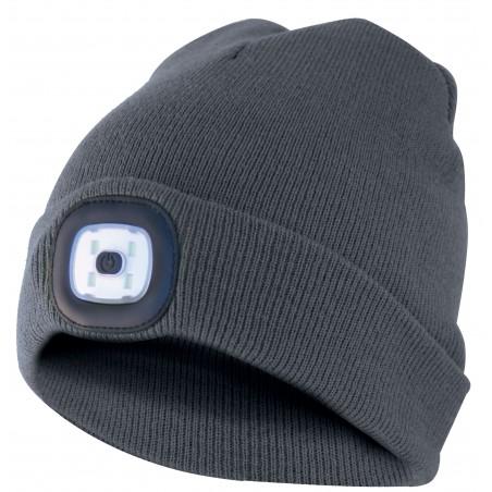 LIGHTHOUSE: capellino con luce frontale LED ricaricabile. Grigio scuro CAP02 Cappellini LED Velamp