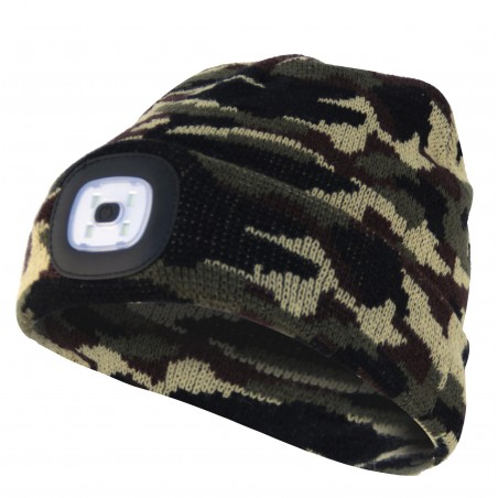 LIGHTHOUSE: Gorro con luz LED recargable. Color mimético CAP06 Velamp Linternas LED