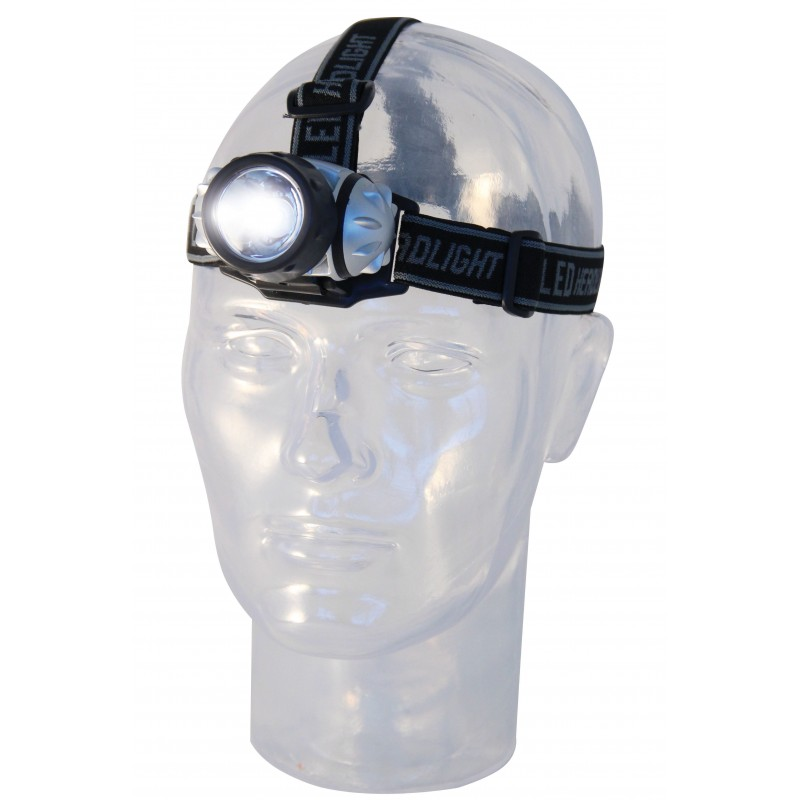 Luce frontale led 1w con fascia doppia IH510.DL.006L Luci frontali Velamp Basics