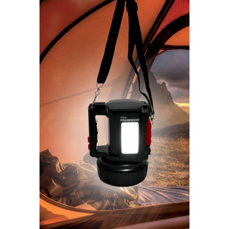 Faro ricaricabile led 10w + lanterna + powerbank doomster trekk IR666-10W.006S Fari da lavoro (spotlight) Velamp