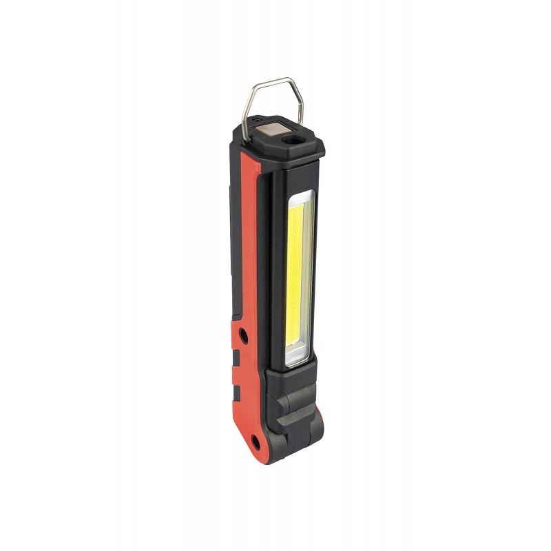 Rosso Ricaricabile Multifunzione Velamp KUBRIK Luce dispezione 2 in1: COB 350lm Torcia 150lm