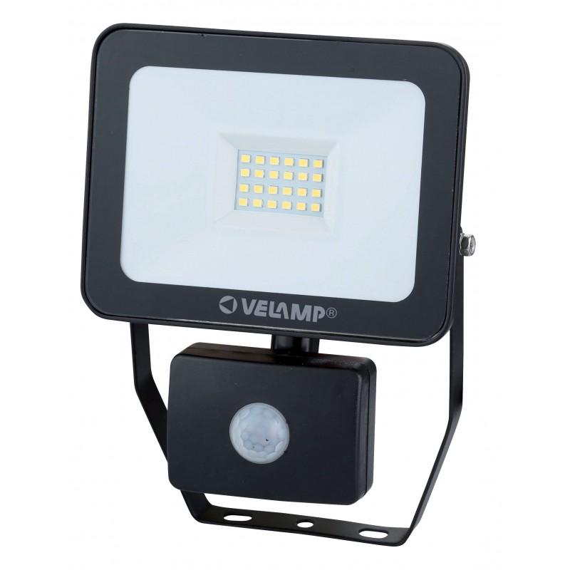 Proiettore LED SMD 20W IP44, nero, 4000K. Con Rilevatore di movimento IS748-3-4000K Faretti LED da esterno Velamp