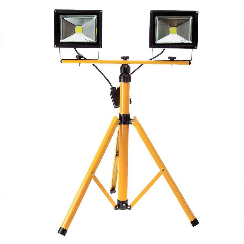 TRIBAR: horizontal bar to mount 2 lights on a tripod TRIBAR Velamp AC jobsite worklights