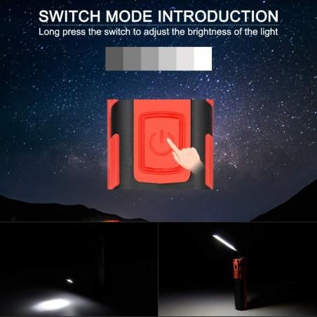 KUBRIK: Wiederaufladbare Multifunktions-Inspektionslampe + Taschenlampe. IR439 LED Taschenlampen Velamp