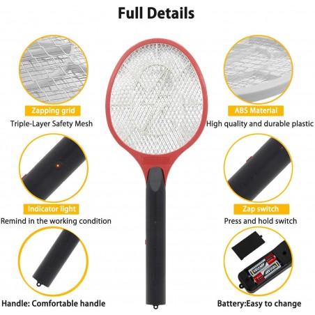 Racchetta elettrica anti zanzare smash REPEL02 Antizanzare Velamp