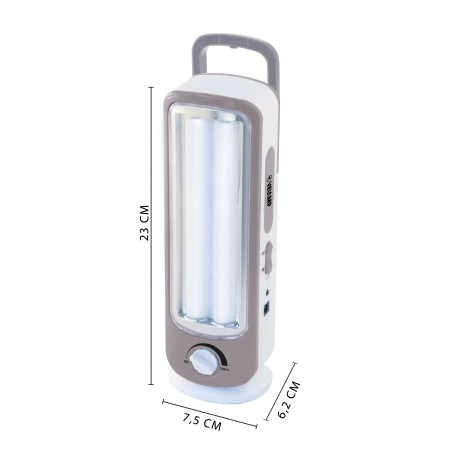 TWIX: Rechargeable emergency lamp 2 LED tubes, 300lm 23cm IR162 Velamp Portable emergency lamps