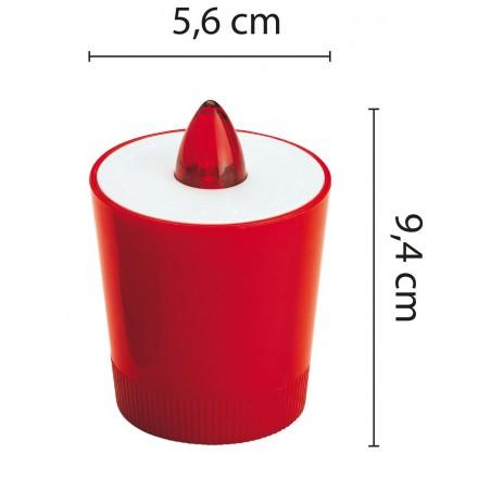 Lumière votive 1 LED rouge Piles incluses non changeables IP20 IL01E.024B Lumières votives Velamp