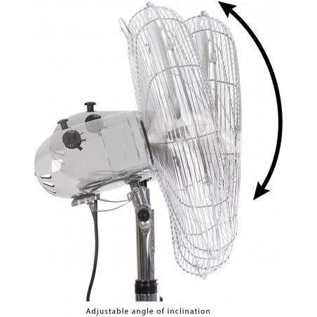 MISTRAL3 : Standventilator, 40 cm Durchmesser, verchromt VENT-M40C3 Bodenventilatoren Velamp