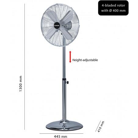 Ventilatore a piantana 40 cm in metallo cromato mistral3 VENT-M40C3 Ventilatori a piantana Velamp