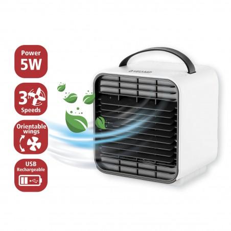 Mini condizionatore raffrescatore evaporativo con ionizzatore ricaricabile adely MINICOOL Raffrescatori di aria Velamp