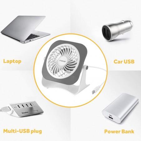 ZEFF: mini ventilateur de table USB VENT-USB Ventilateurs de table et brasseurs d'air Velamp