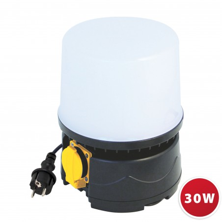 SHAKO: 360° LED lantern. 30W (2800lm) with 5m cable ST188 Velamp Jobsite 360° lights